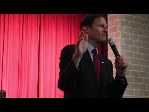 CT Senator Richard Blumenthal at New Haven Town Hall on 2/25/2017