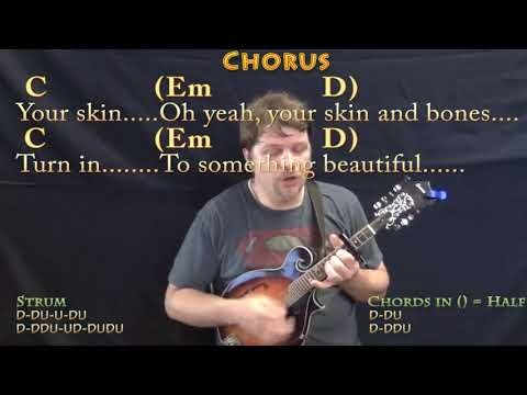 Yellow (Coldplay) Mandolin Cover Lesson with Chords/Lyrics - Capo ...