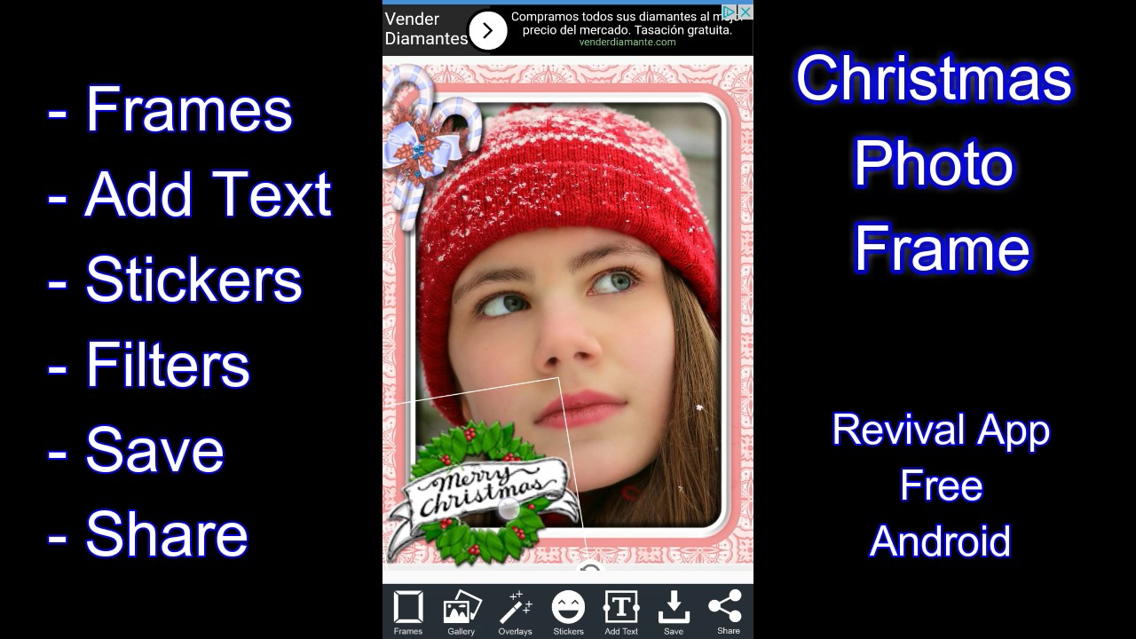 Christmas Photo Frame App Android - YouTube