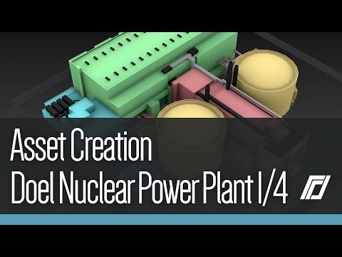 Cities Skylines - Asset Creation - Doel Nuclear Power Plant 1/4