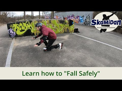 How to fall safely on inline skates – Together we will overcome your fear! Inline Skating Basics #02