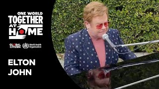 "Elton John performs ""I'm Still Standing"" 