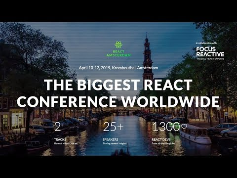 React Amsterdam 2019 - React Native Track