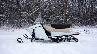 Снегоход своими руками | Самодельный снегоход для охоты и рыбалки