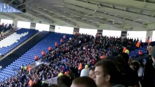 Leicester fans doing 'Poznan' against Barnsley