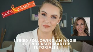 I Tried Following Hot & Flashy Makeup Tutorial - Elle Leary Artistry