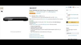 Sony DVPSR210P DVD Player (Progressive Scan) Reviews