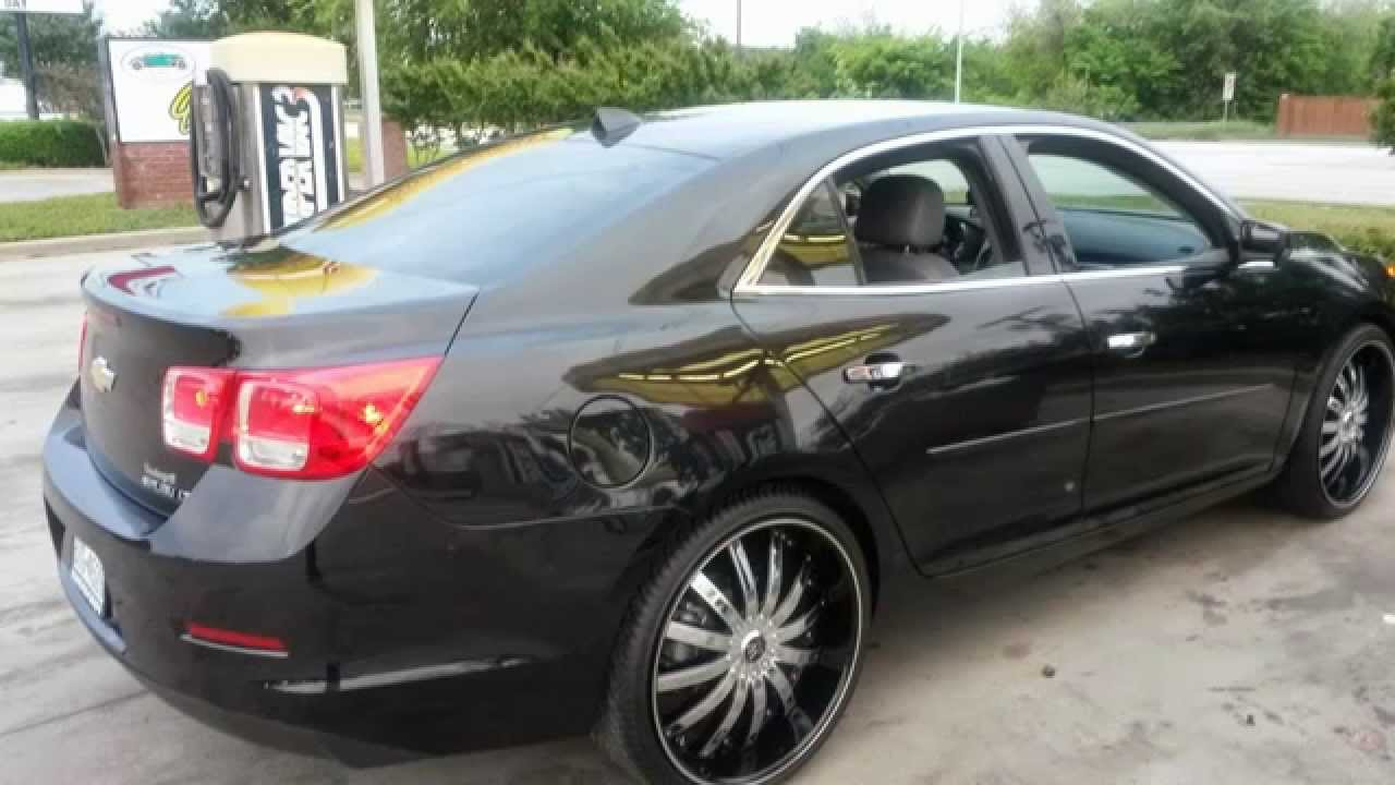 Worksheet. 2013 Chevy Malibu LT on 22 inch rims  YouTube