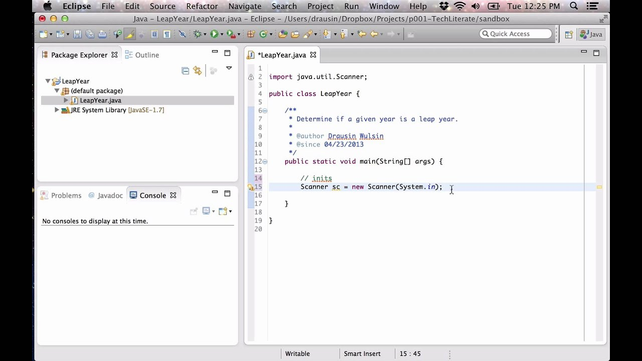 write a java program for leap year or not