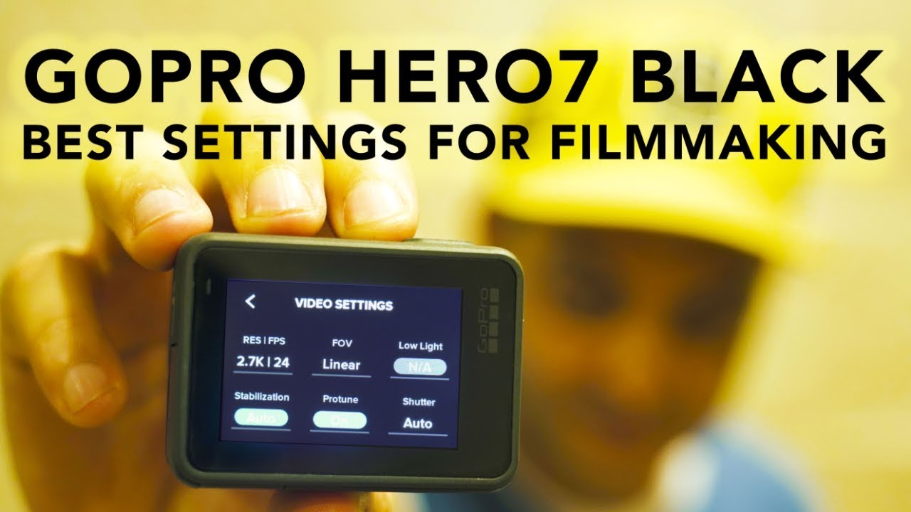 The Absolute Best Settings For The Gopro Hero7 Black Rehaalev Youtube
