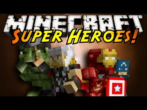 Minecraft Mod Showcase : SUPER HEROES!