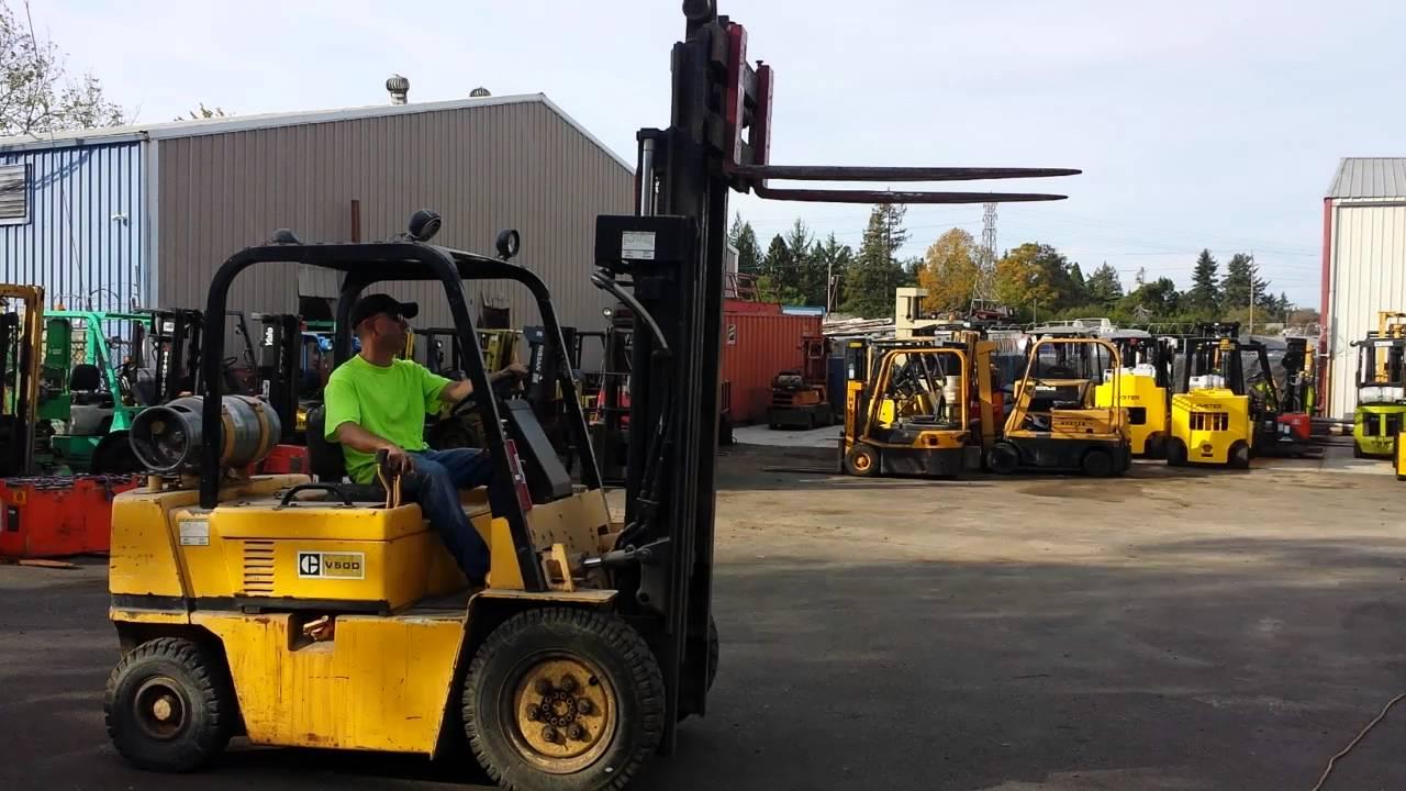 Chris Carlson Caterpillar V50D Forklift demo