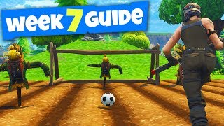 SECRET SOCCER PITCH LOCATIONS! - Fortnite Week 7 Challenge Guide