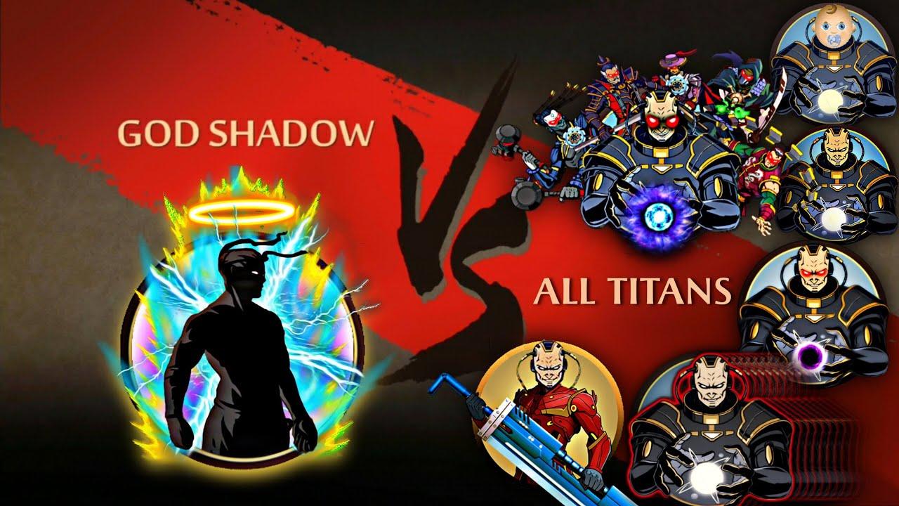 Shadow Fight 2 God Shadow Vs All Titans