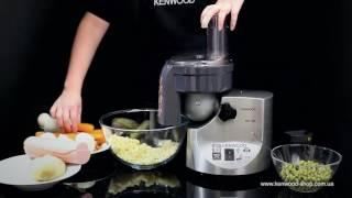 Насадка нарезка кубиками Kenwood MGX 400 - видео обзор (1 часть)