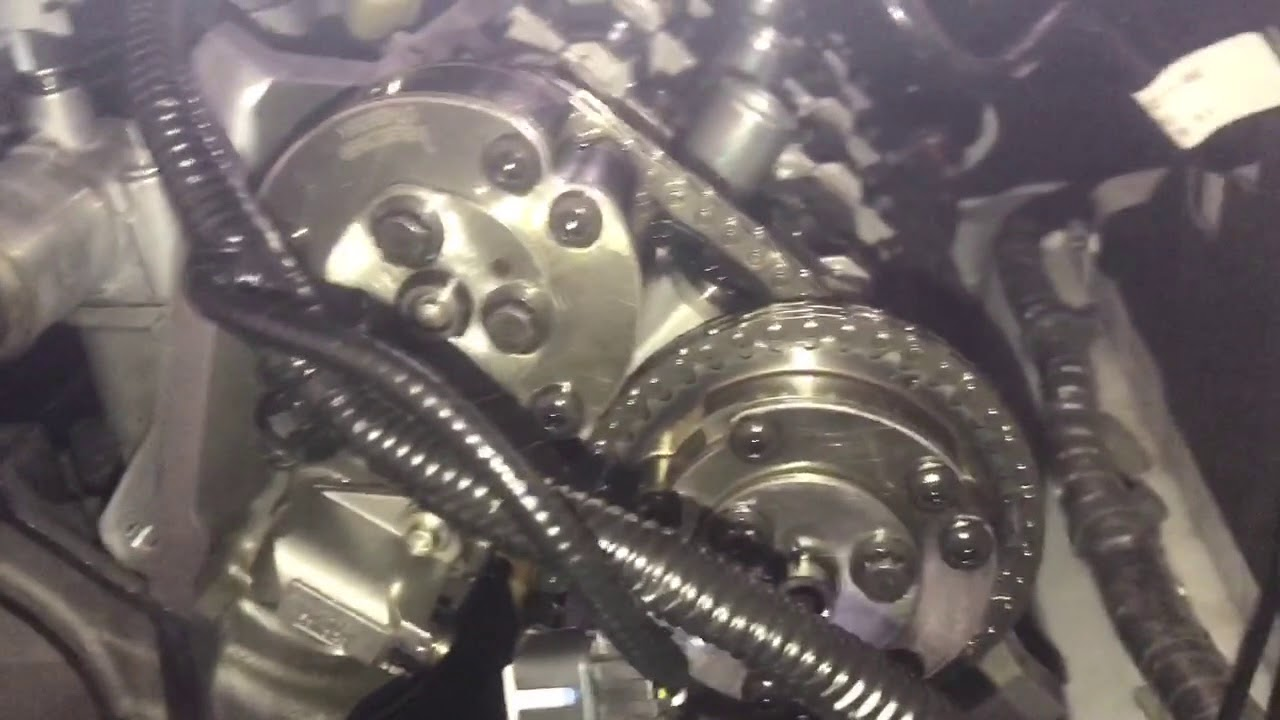 2015 Mustang GT coyote oil pump gears crank sprocket install timing engine  part 5