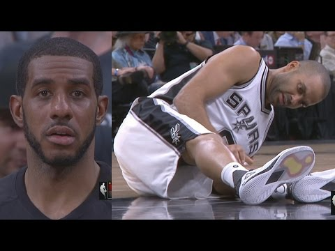 Spurs Lose Tony Parker to Injury, Tim Duncan Pep Talk Aldridge! Rockets Spurs Game 2