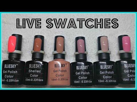 Bluesky Gel Polish Swatches | Neutrals - YouTube
