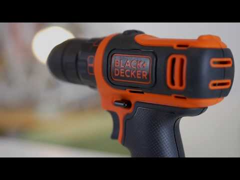 BLACK+DECKER™ 10.8V lithium-ion Drill Driver with 11 Accessories and Storage Bag.