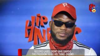 RECORD LABEL DIDN'T GIVE DAVIDO THE FREEDOM TO DO HIS THING - DREMO