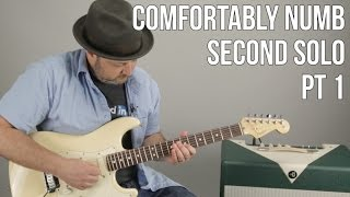 Comfortably Numb Second Solo Guitar Lesson Pt1 David Gilmour