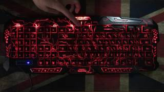 darshion m300backlit keyboard led switch 3 color usb wired breathing waterproof gaming keyboard