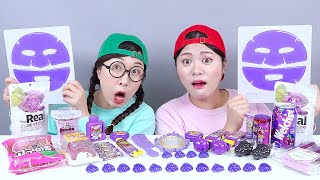 Purple Food Jelly Candy DONA Mukbang