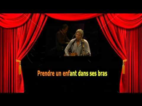 Karaoké Yves Duteil  -  Prendre un enfant par la main