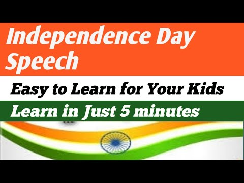 Independence Day Speech -Part 2/Learn the Speech in 5 minutes