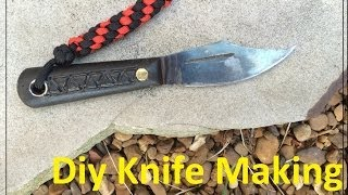 Making a knife from a putty knife.