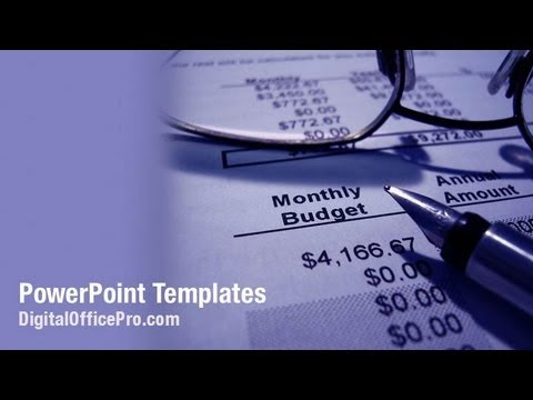 Monthly Budget PowerPoint Template Backgrounds - DigitalOfficePro