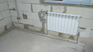 Монтаж системы отопления, двух трубная система полипропилена. сантехника  #отопление