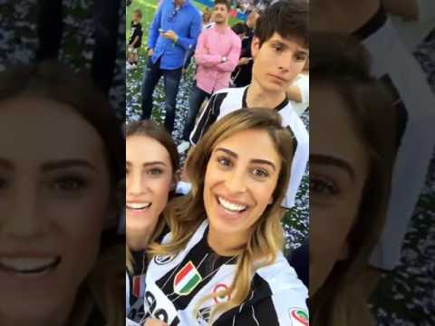Scudetto Juventus: Valentina Allegri in campo!