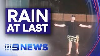 Much needed rain falls on drought stricken parts of NSW | Nine News Australia
