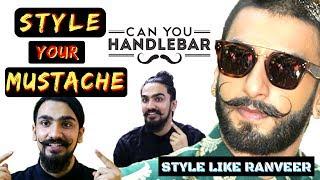 Mustache Style Trends 2017   Handlebar Mustache Styles ft. Ranveer Singh Style   Indian Men's Guide