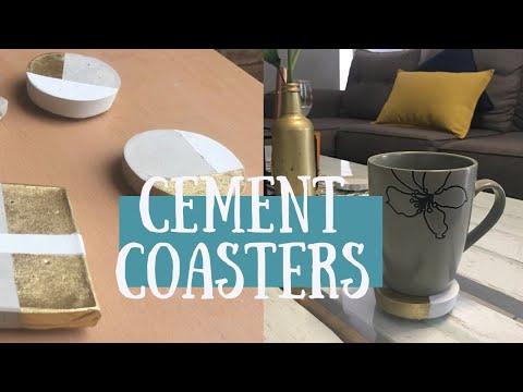 Easy Cement Coasters |Durban Youtuber| DIY Yolande