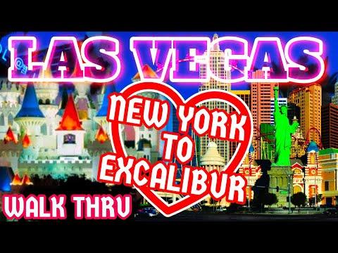 Las Vegas New York New York to Excalibur Reopening Casino Walk-Thru | Let's Do This!