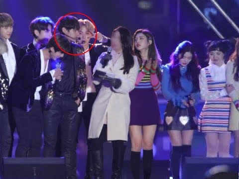 "170103 IRENE Red Velvet & V BTS ""V Worrying about Irene"" MBC Gayo Daejun 2016"