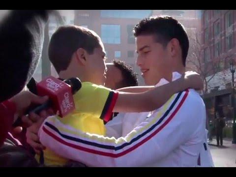 El conmovedor gesto de James Rodríguez hacia un niño colombiano de YouTube · Duración:  1 minutos 16 segundos