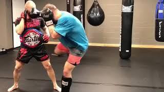 Advanced Dutch kickboxing drill - Muay Thai, Lethwei, Kickboxing | IronHide Academy. Leesburg, VA.
