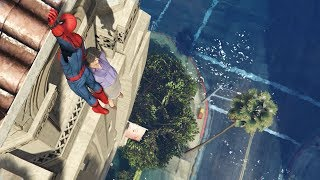 GTA 5 Water Ragdolls | SPIDERMAN Jumps/Fails #17 (Euphoria physics | Funny Moments)