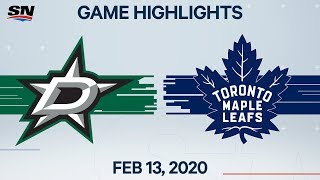 Nhl Highlights | Stars Vs Maple Leafs – Feb. 13, 2020