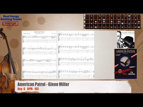 American Patrol - Glenn Miller Bass Backing Track with chords and lyrics