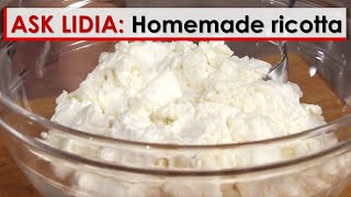 Video Ask Lidia: Homemade Ricotta download MP3, 3GP, MP4, WEBM, AVI, FLV Januari 2018