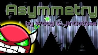 Geometry Dash - Asymmetry (New HARD Level / Collab with Koreaqwer !!!) by WOOGI and Koreaqwer