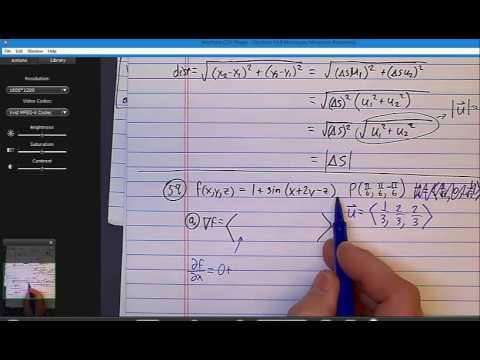 Section 14 6 Problem 53 directional derivatives gradients 3D