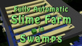 Minecraft Fully Automatic Slime (Hostile) Farm in Swamps (3/3)