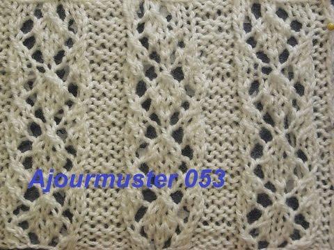 Ajourmuster 053*Stricken lernen*Muster für Pullover*Mütze*Tutorial Kreativ