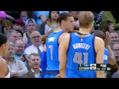 Justin Anderson and Dwight Powell vs Nuggets (2016.03.28)