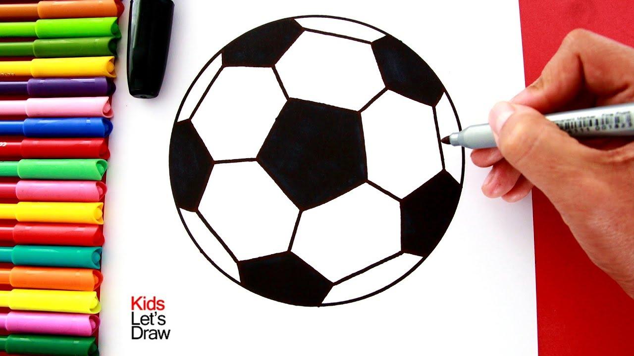 Cómo Dibujar Un Balón De Fútbol Fácil: Cómo Dibujar Una PELOTA DE FÚTBOL De Manera Fácil